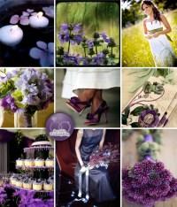 Deep Purple and Green Weddings {Inspiration Board}