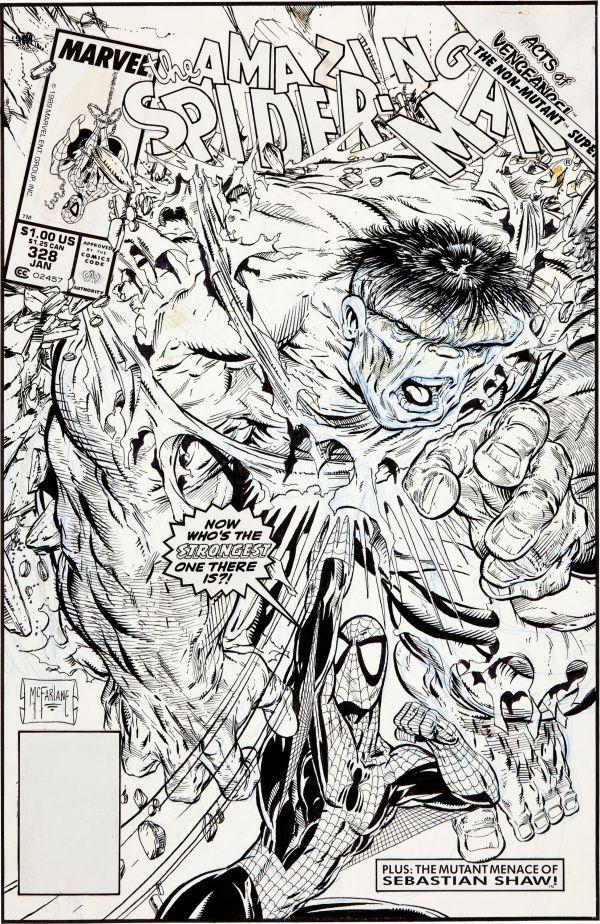 Todd Mcfarlane Original Spider-man Art Sells 675 250 Geektyrant