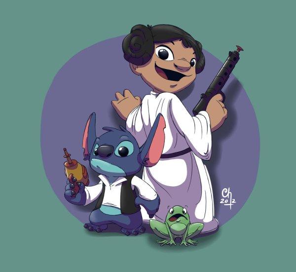 Princess Lilo And Stitch Solo - Star Wars Disney Fan Art Geektyrant