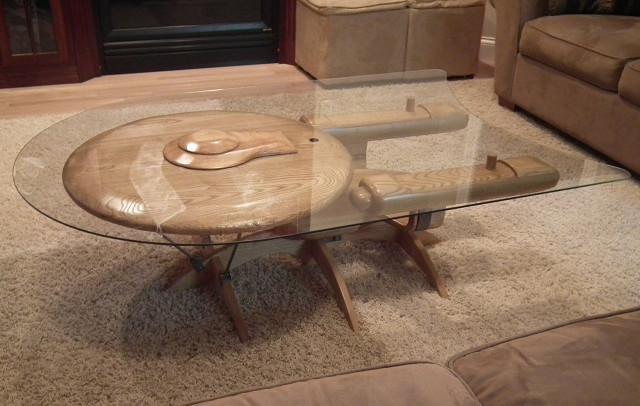 Homemade USS Enterprise Coffee Table  GeekTyrant
