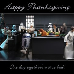 Movie Chairs For Sale Wedding Chair Covers Suffolk Happy Thanksgiving Star Wars Action Figure Style! — Geektyrant