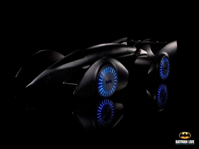 Batman Beyond 3d Wallpaper First Look At Batmobile From Batman Live Stage Show