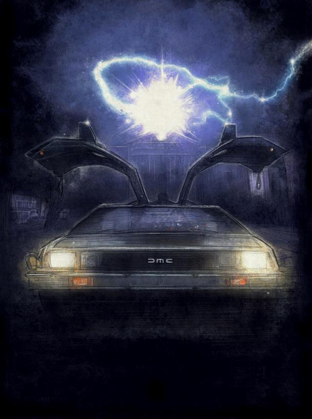 Back To The Future Art Does Not Need Roads Geektyrant