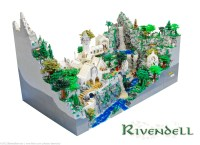 Insanely Detailed LORD OF THE RINGS Rivendell LEGO Diorama ...