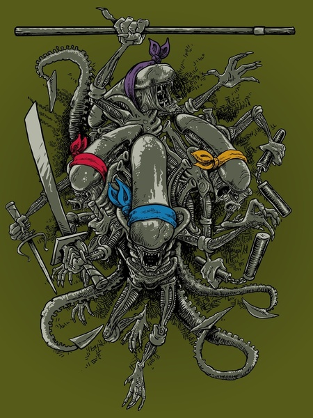 Teenage Mutant Ninja Xenomorphs  GeekTyrant