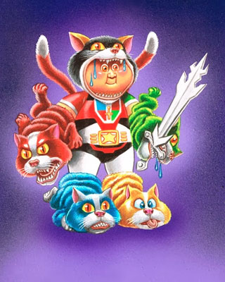 Garbage Pail Kids Style VOLTRON Art And More GeekTyrant