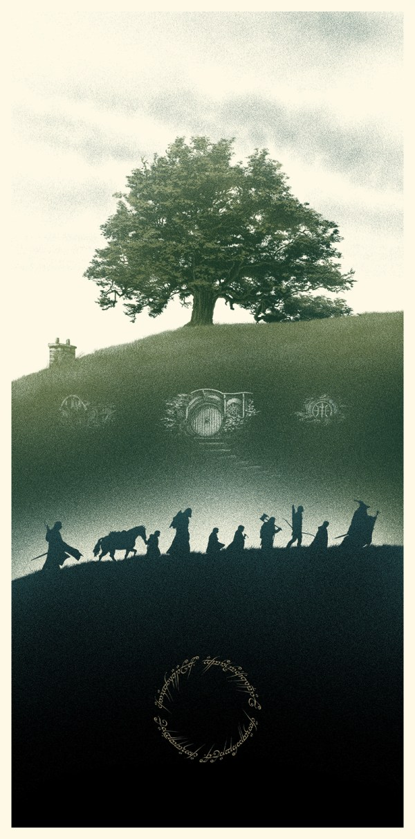 Amazing Lord Of Rings Poster Art Geektyrant