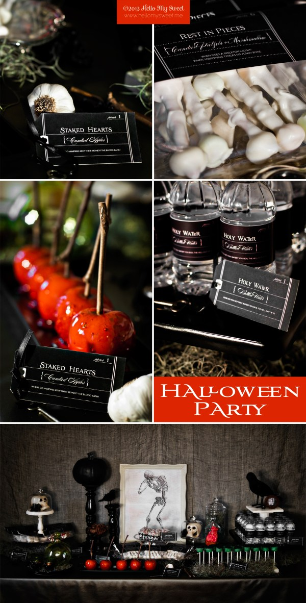 Spooky Halloween Printable Party Decorations Sweet