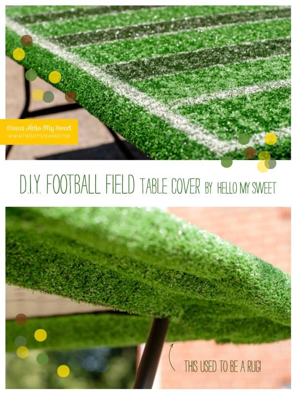 Football Field Table Cover DIY