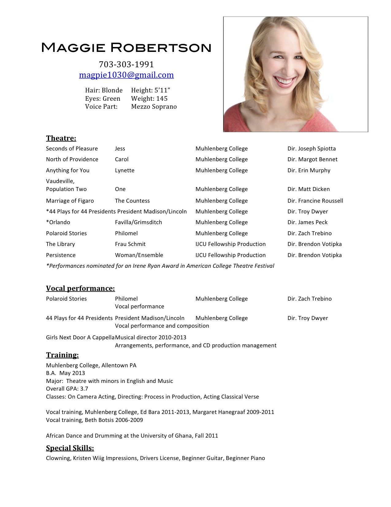 Examples Of Resumes Marvelous Sample Job Resume College Acting In London Background Actor Format