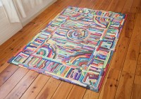 Gooey Rainbow Carpet Art by NIGHTSHOP  KNSTRCT
