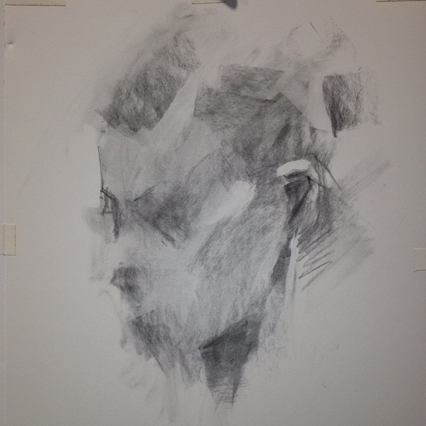 Charcoal Sketch From Life Taaron Parsons