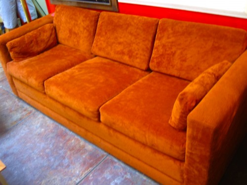 SOLD  Burned Out  70s Sleeper Sofa  Casa Victoria