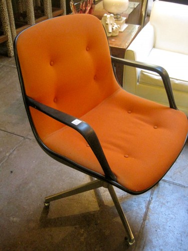 steelcase vintage chair walmart lounge cushions sold cubicle prison 1970s orange tweed on wheels