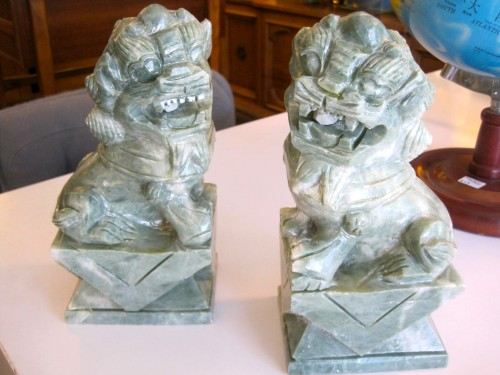 Foo Fighters Marble Foo Dog Bookends Casa Victoria