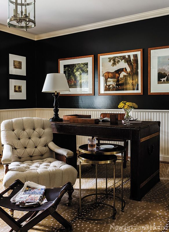 Manly Fall Wallpaper Office Space Of The Day Black Walls The Decorista