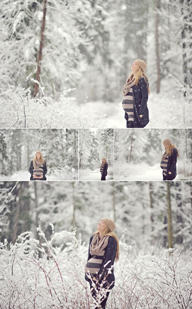 Maternity Photo Shoot Ideas In Snow
