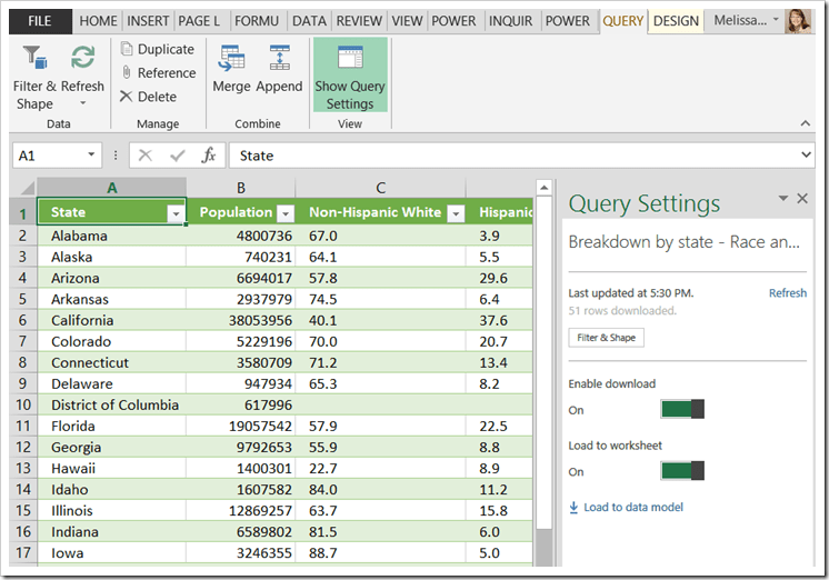 Power Query Data–Should it be Loaded to the Worksheet? — SQL Chick