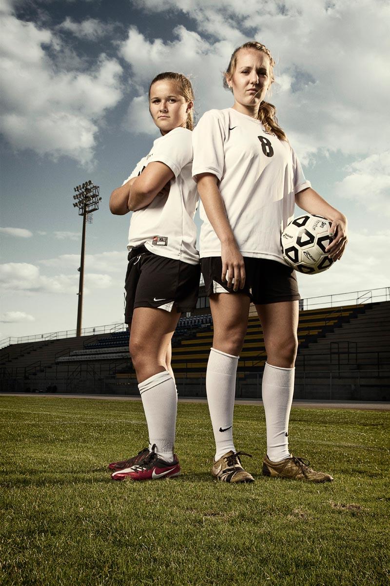Girls Soccer Portrait Poses