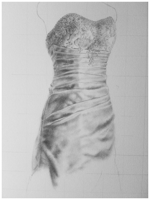 chelsea's wedding dress drawing