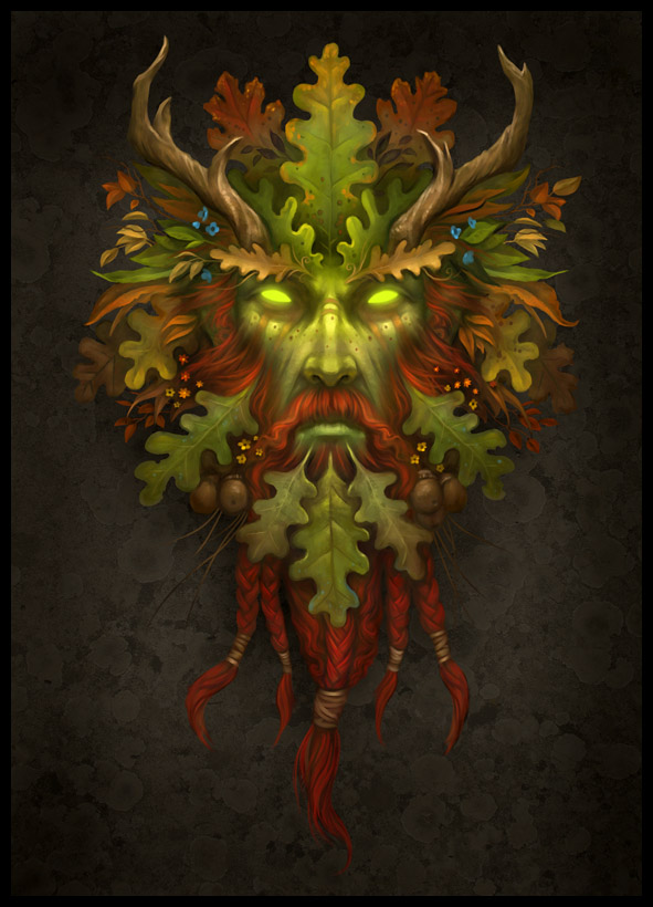Runelords Greenman Howard Lyon Fine Art And Illustration