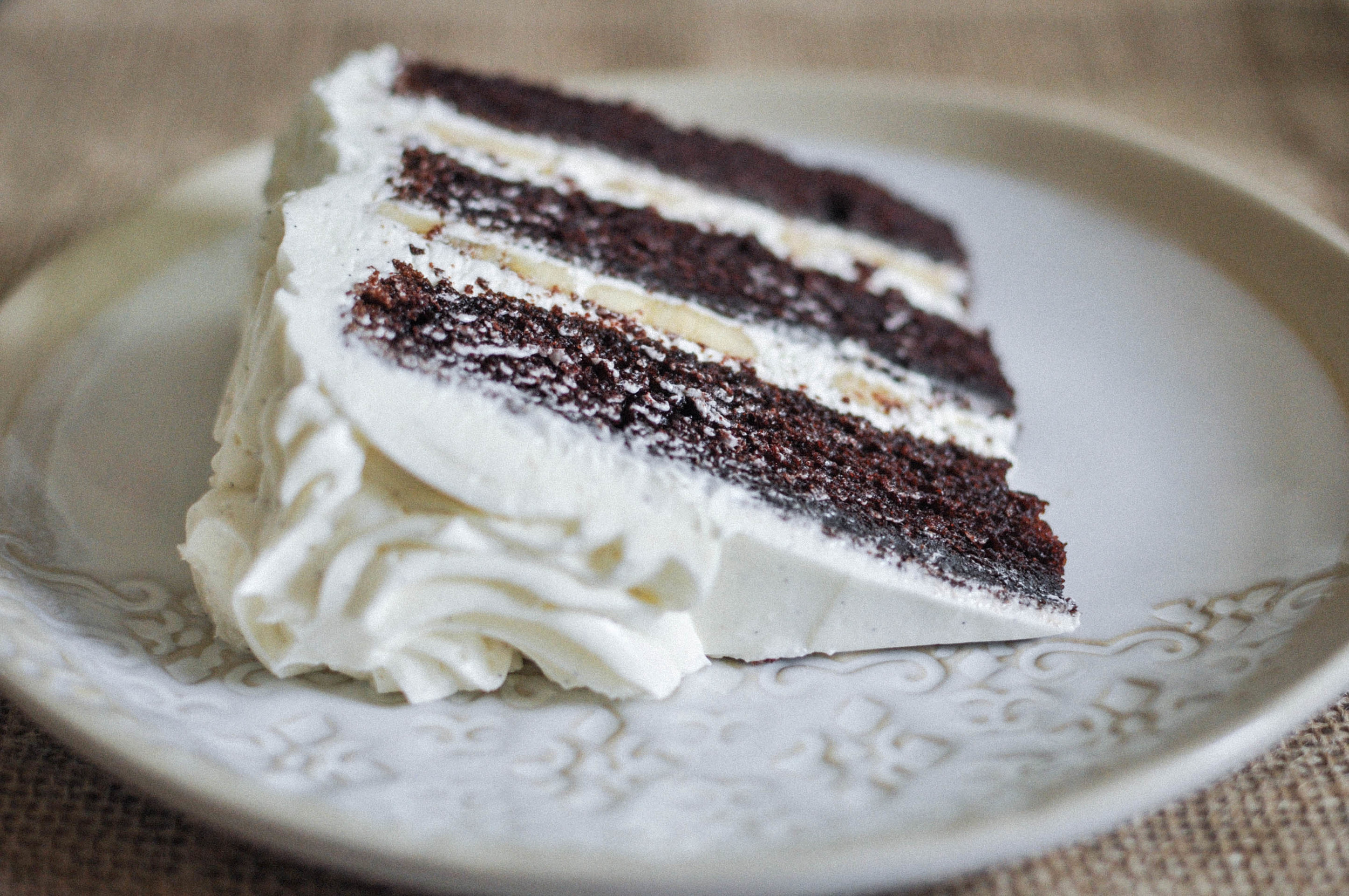 Chocolate Banana Cake with Vanilla Bean Buttercream  OO Eats
