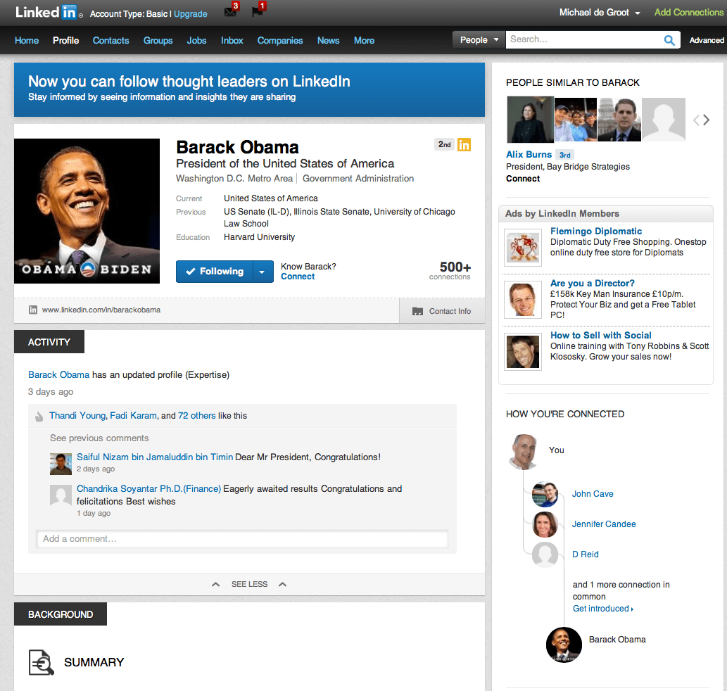 Have you noticed the LinkedIn changes yet  stayingaliveukBlog