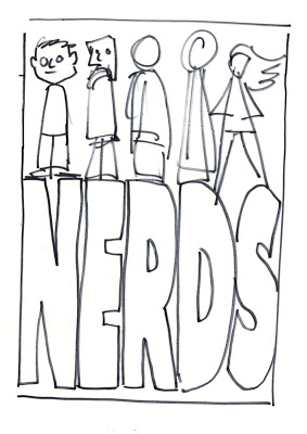 The Evolution of a NERDS book cover — Chad W. Beckerman