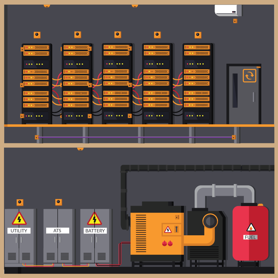 hight resolution of server room infographic png