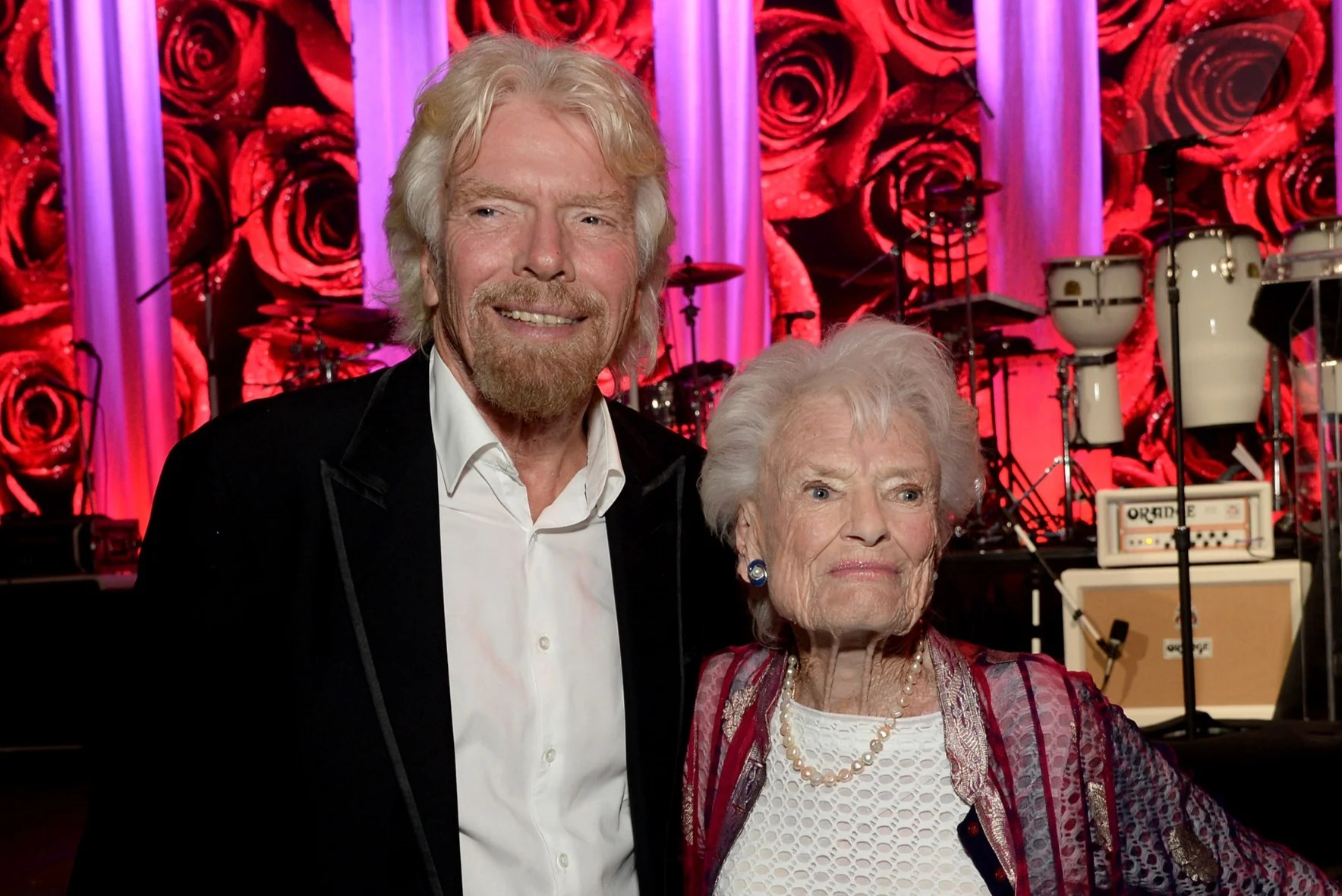 <p>Richard Branson and honoree Eve Branson at the AltaMed Power Up, We Are The Future Gala in 2016</p>