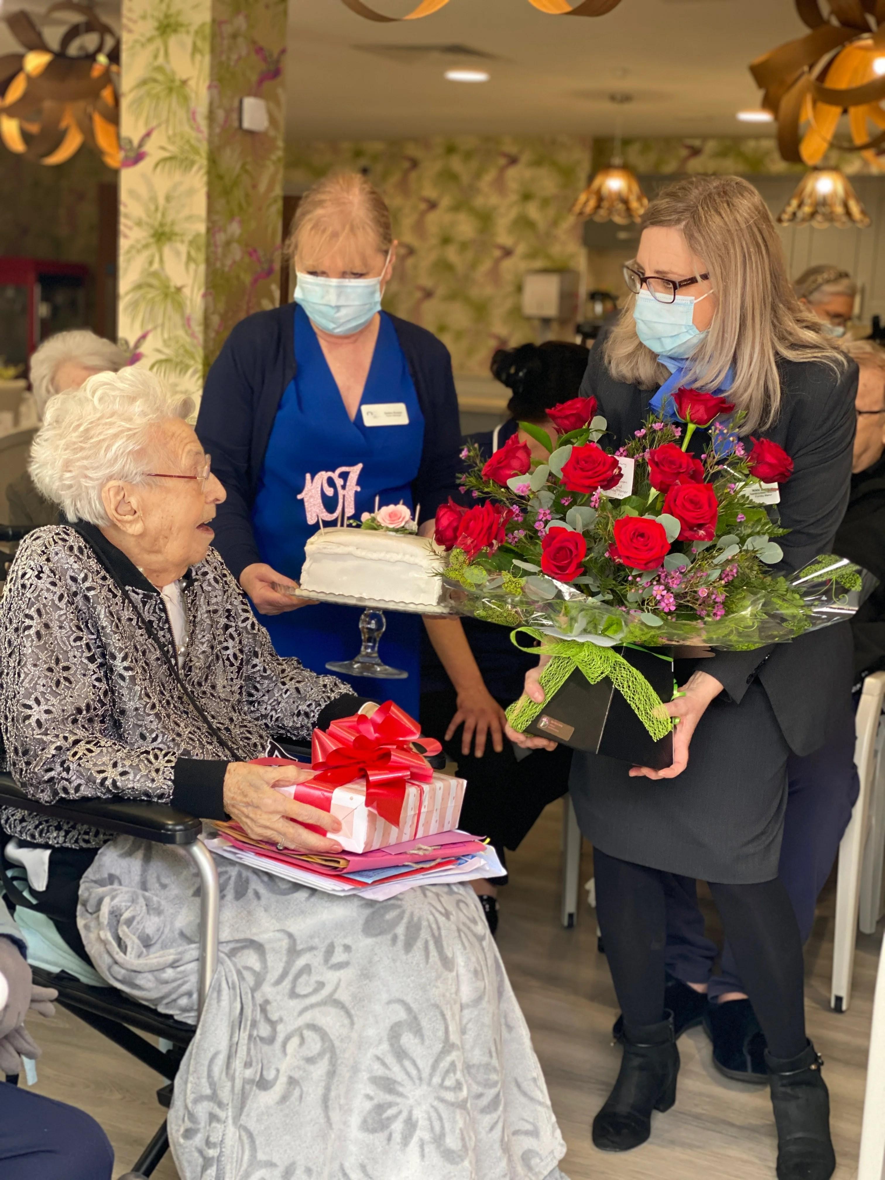 Merseyside woman pens poem to mark 107th birthday