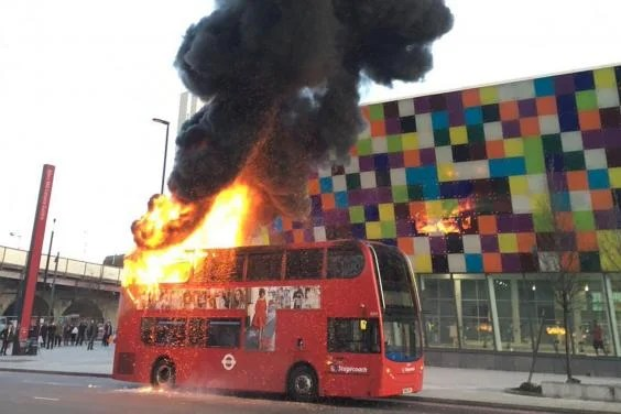 Lewisham bus fire Doubledecker engulfed in flames after suspected arson in south London
