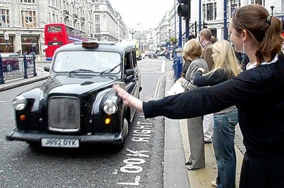 Black cab badges show which drivers have The Knowledge