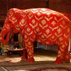 Modern Living Room Ideas On A Budget Formal Rooms Houzz Banksy's Elephant Loses Its Paint Job | London Evening ...