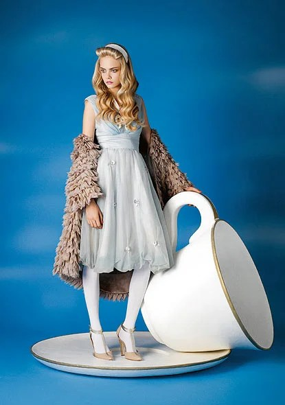 Cara Delevingne unleashes her inner Alice  Fashion