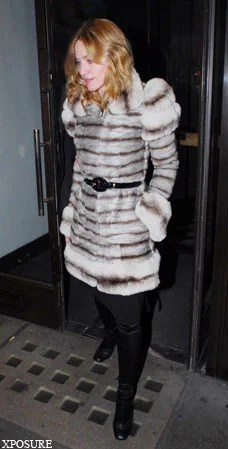 Unrepentant Madonna joins real fur lovers with 35000 chinchilla coat  London Evening Standard