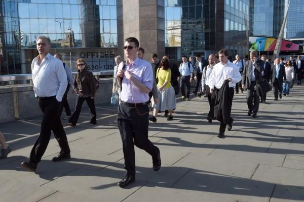 Office Worker Walking