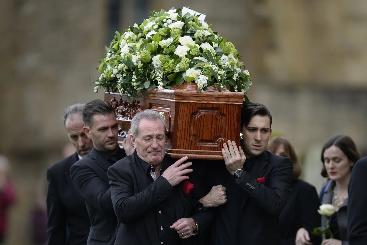 Stars of stage and screen pay tribute to Lynda Bellingham at her funeral in Somerset  London