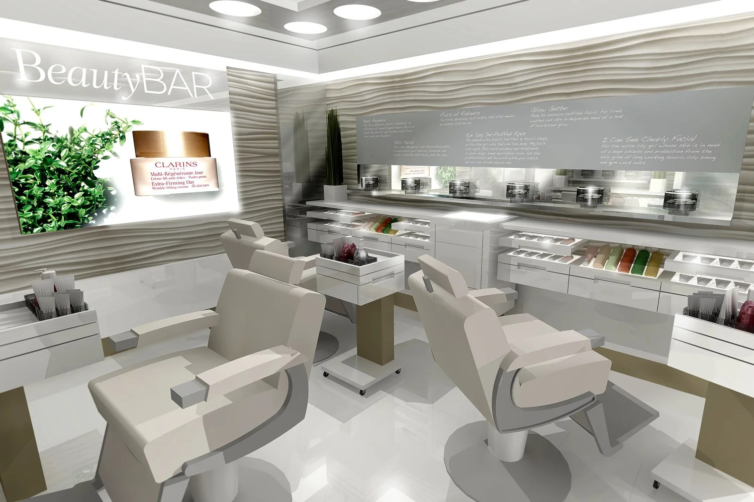 Fast beauty Clarins opens new BeautyBAR at John Lewis