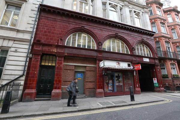 'ghost' Tube Station Street Restaurant