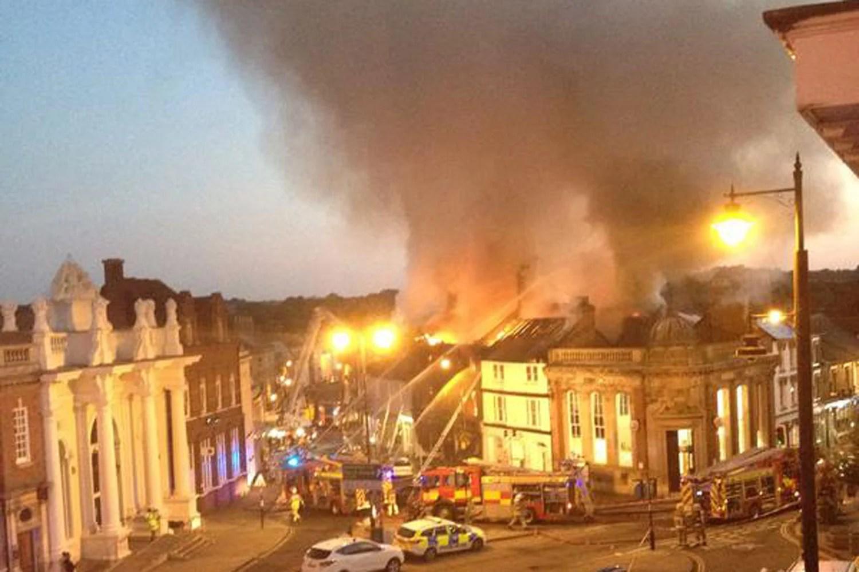 Sudbury fire Massive blaze rips through Suffolk market