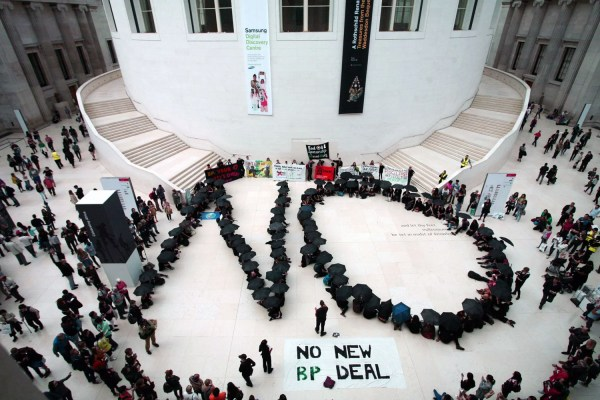 Flashmob Invades British Museum In Protest Bp