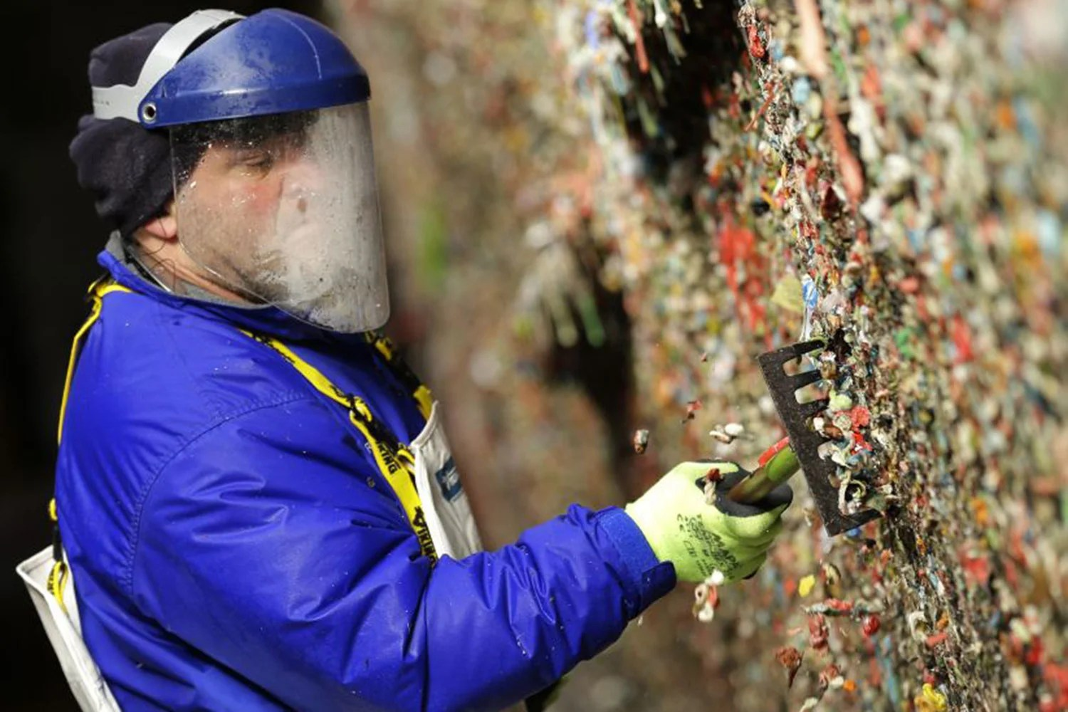 Seattles famous chewing gum wall cleaned up after it