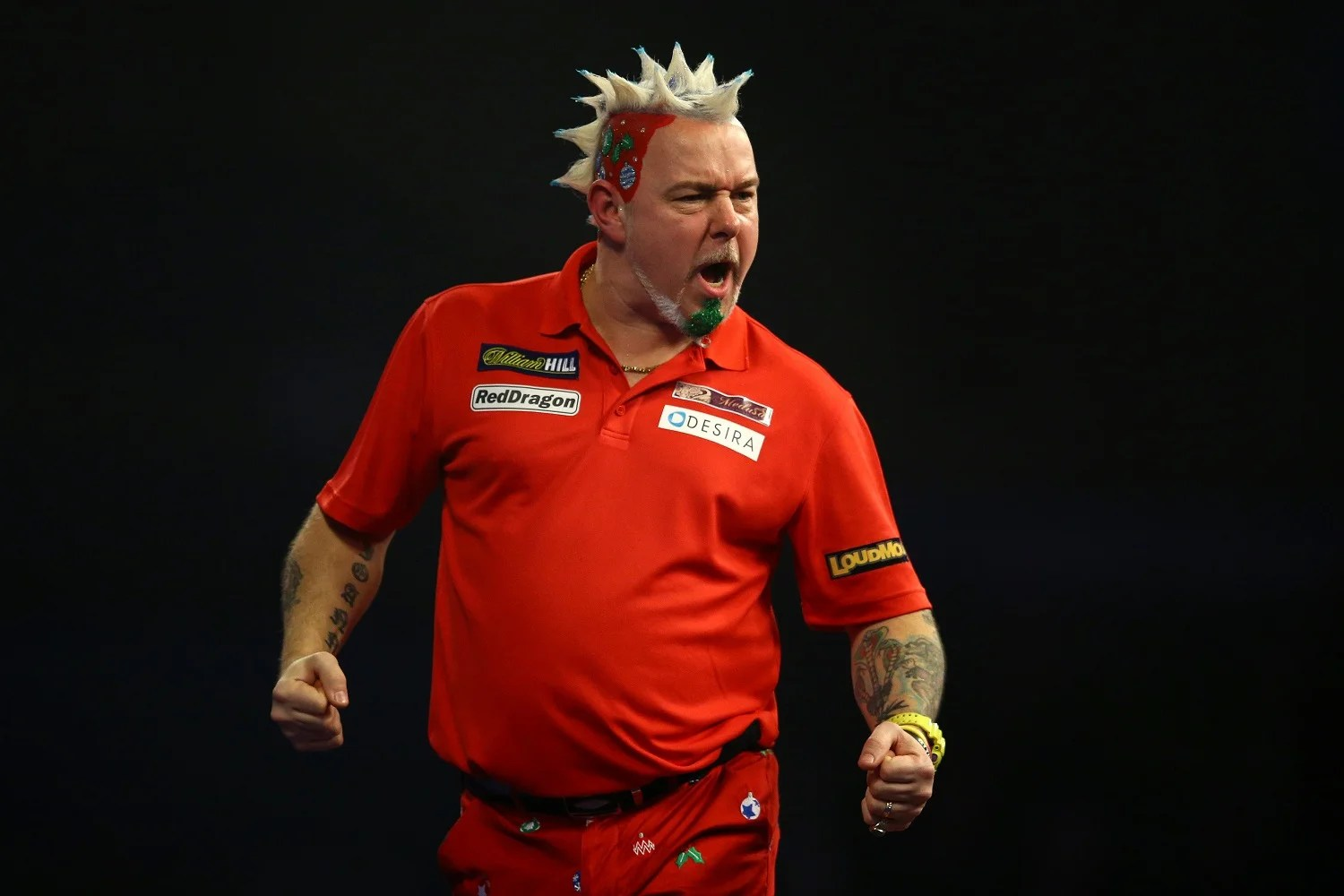 The many mohawks of darts star Peter Snakebite Wright  London Evening Standard