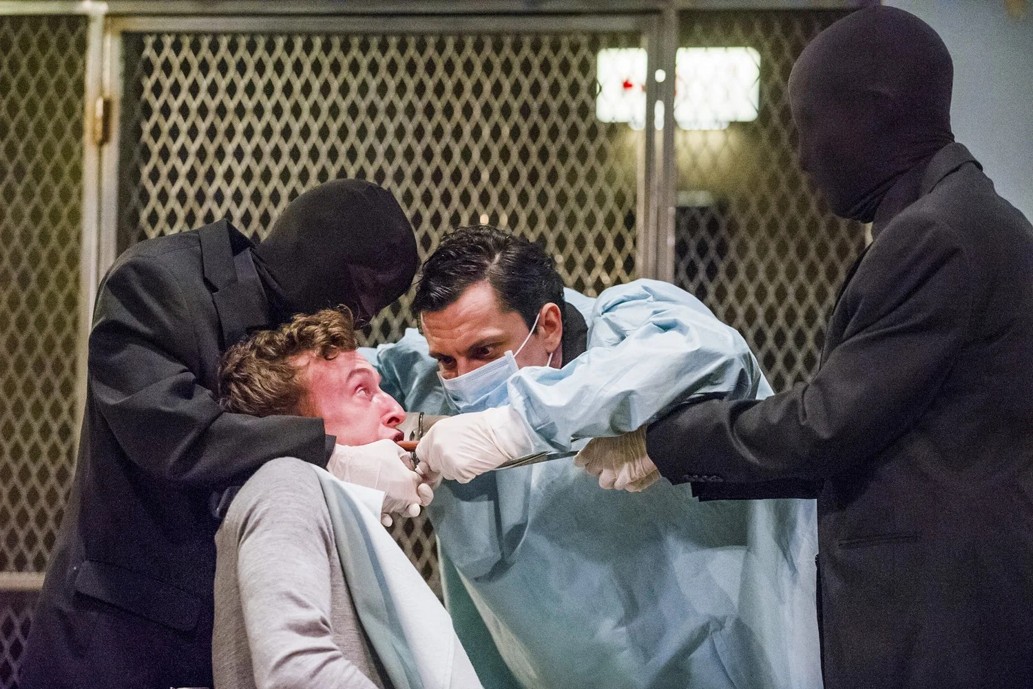 Cleansed National Theatre Audience members pass out in shock during rape and torture scenes