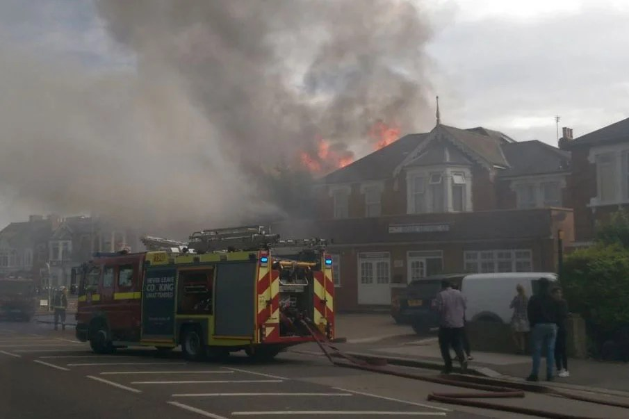 Ilford fire Huge blaze breaks out at Park Hotel  London