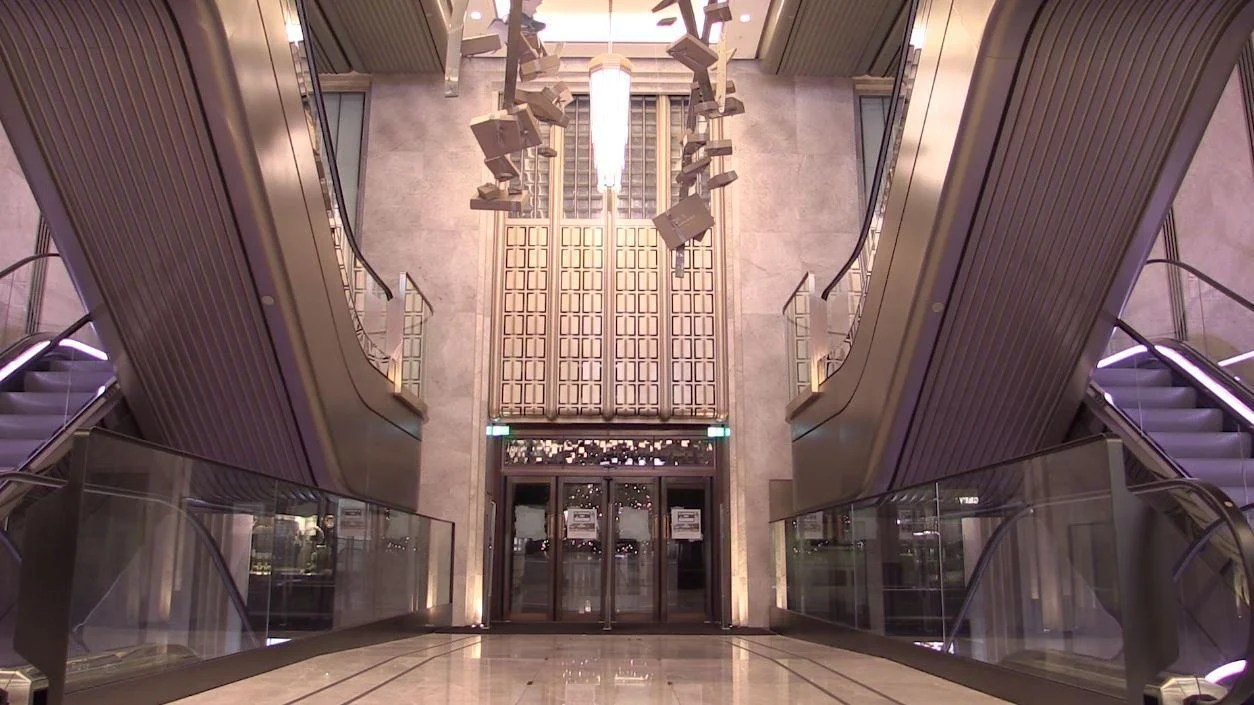 Harrods unveils new 20 million escalator hall with wow