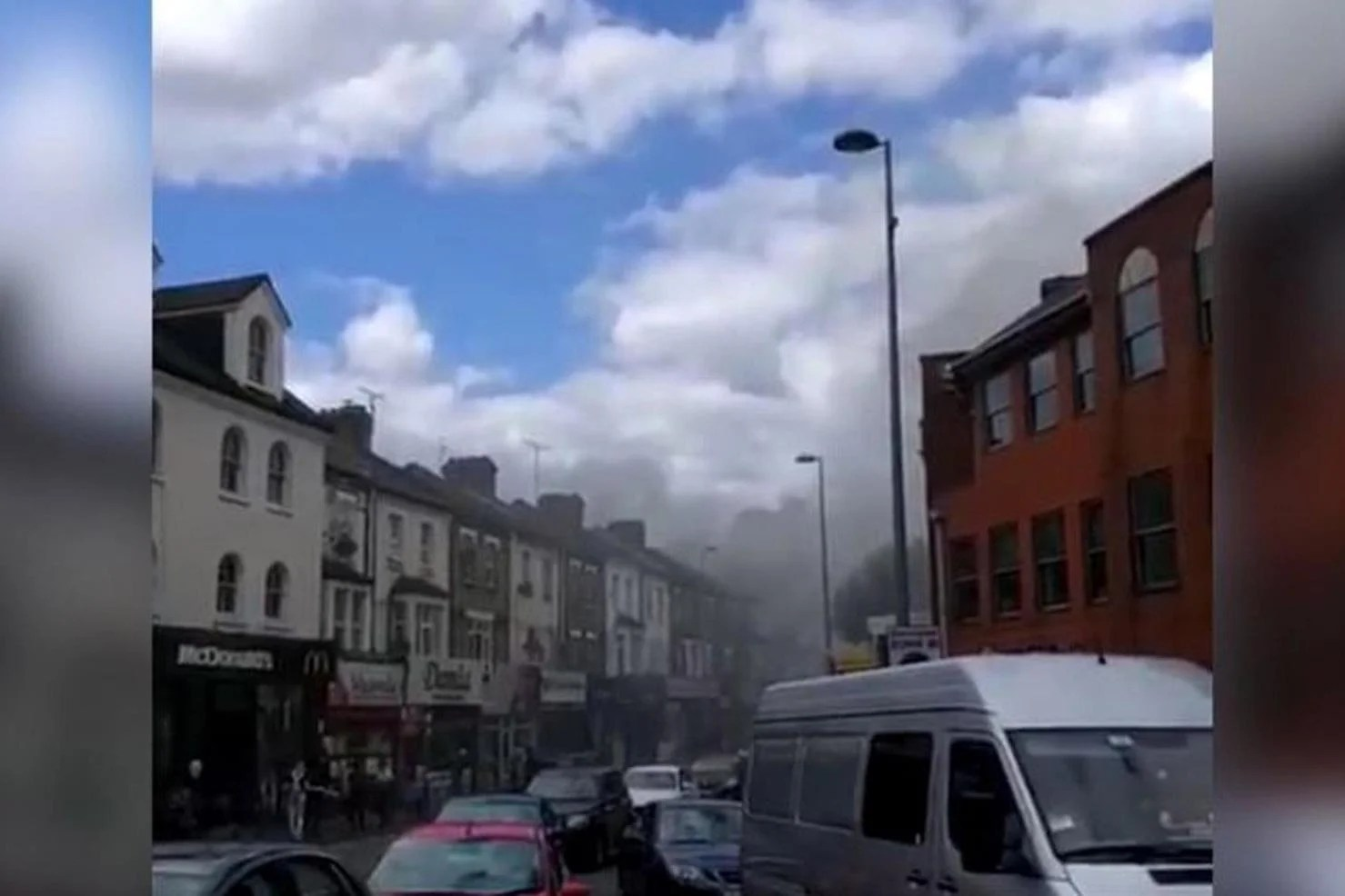 Walthamstow fire Smoke billows into sky as dozens of firefighters tackle blaze at takeaway