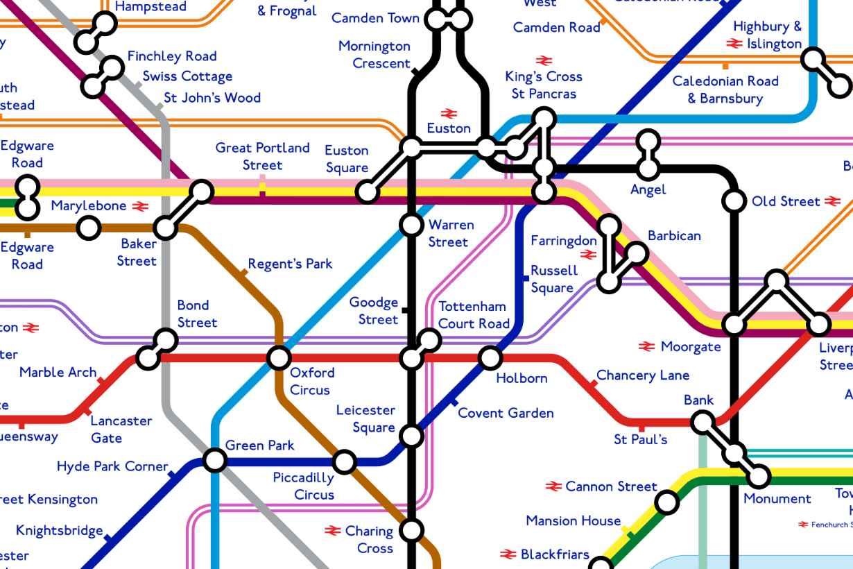 Tube Map Redesign Reveals How London Underground Network
