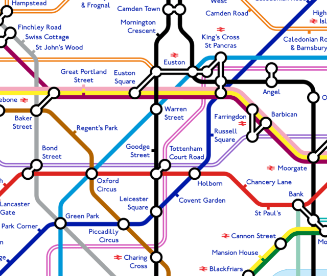 Tube Map The Impressive Design Shows How Much The London Underground Transport Network May